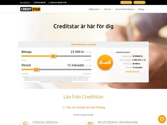Creditstar screenshot