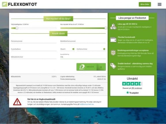 Flexkontot screenshot