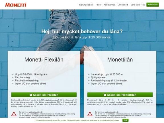 Monetti screenshot