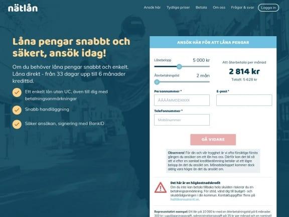 Nätlån screenshot