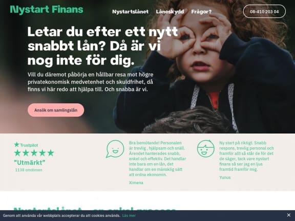 Nystart Finans screenshot
