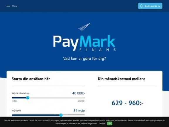 Paymark Finans screenshot