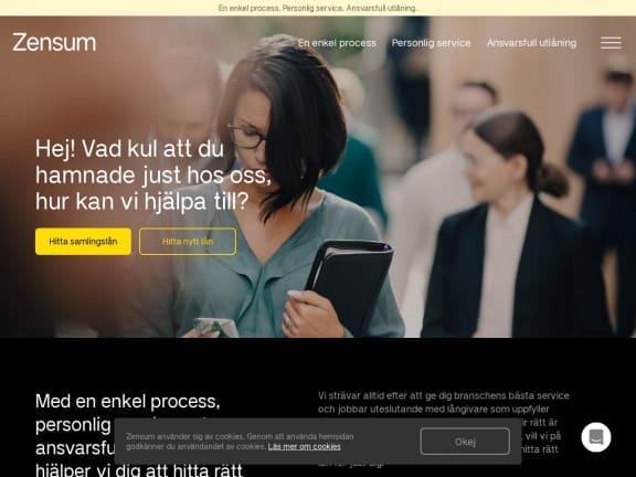 Zensum screenshot