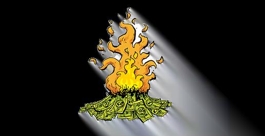 Pengar som brinner
