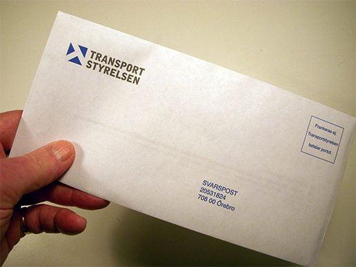 Transportstyrelsen kuvert